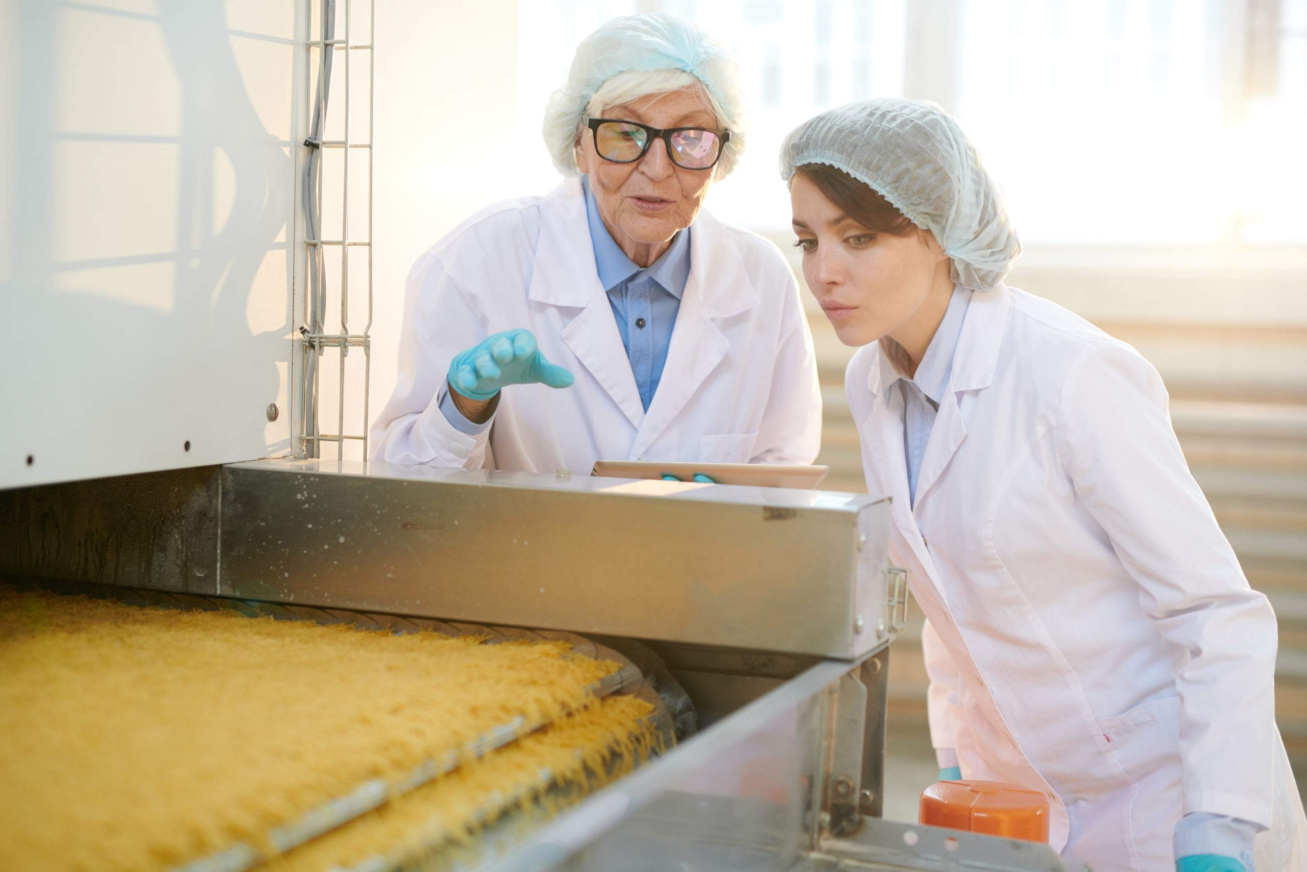 Workers Inspecting Food Production
